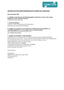 thumbnail of Directors Dealing_Annett Tischendorf