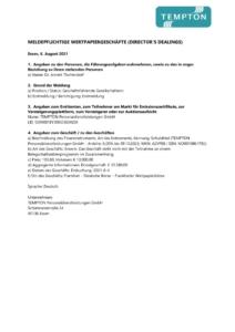 thumbnail of Directors Dealing_Annett Tischendorf_210804